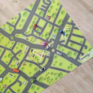 Speelmat van je eigen buurt op maat gemaakt
